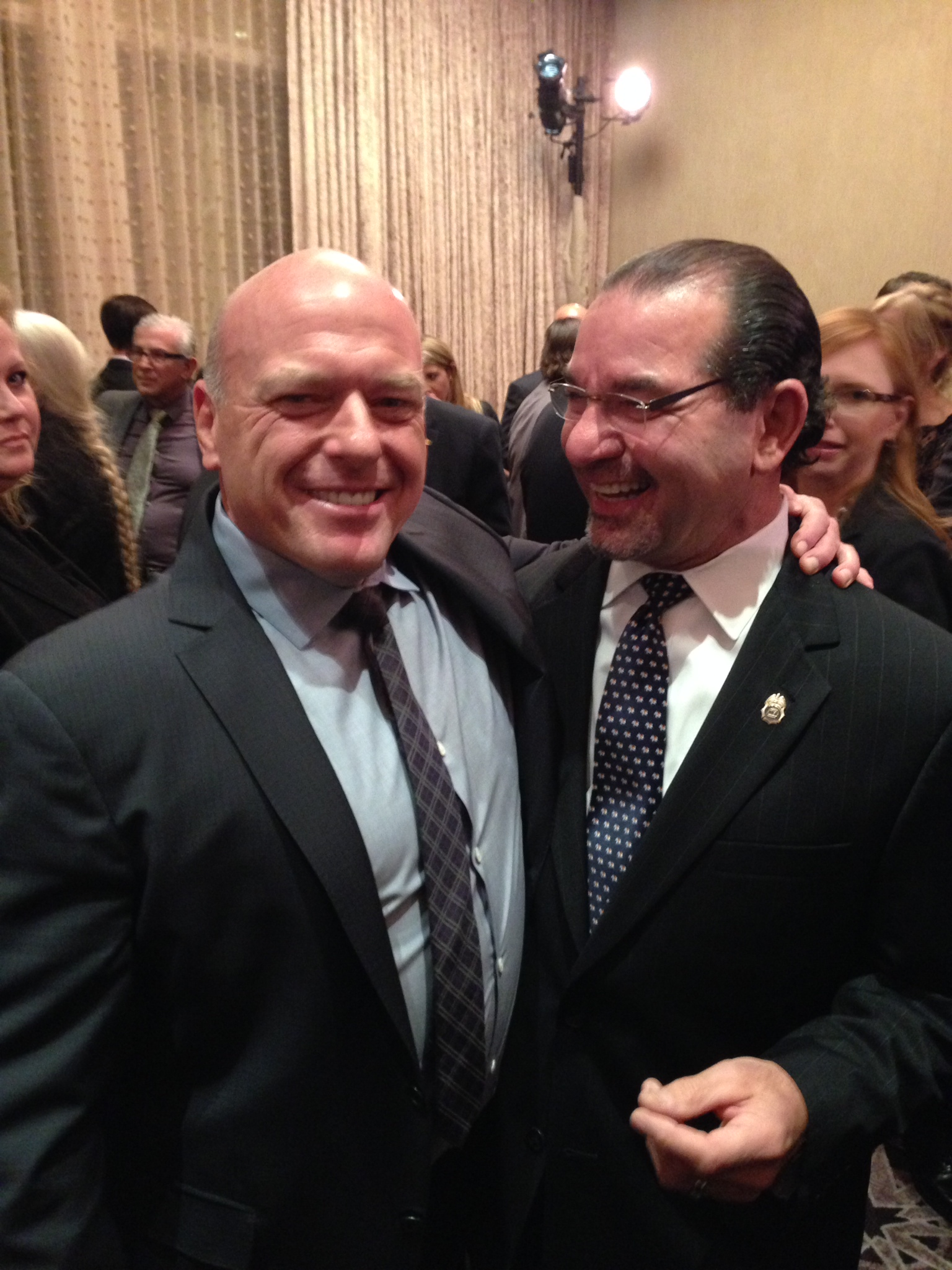 Retired DEA Special Agent Dan Staffieri and Breaking Bad Star Dean Norris (played DEA ASAC Hank Schrader)